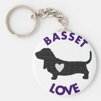 Basset Love Keychain