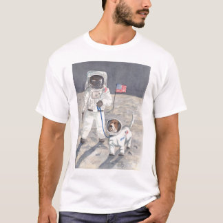 Basset Moon Walk T-Shirt