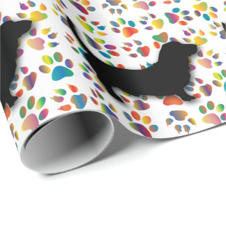 Basset Paw Paper Wrapping Paper