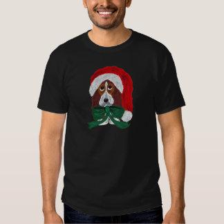 Basset Puppy Santa Tshirt
