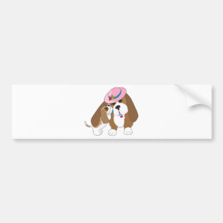 Basset Talk Mom Bumper Sticker