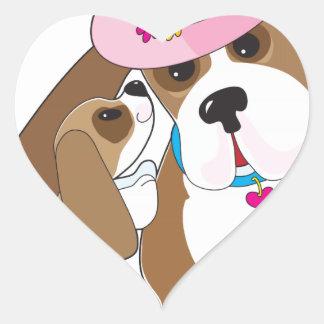 Basset Talk Mom Heart Sticker