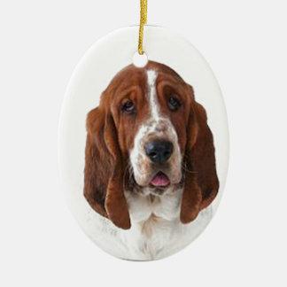 """Bassett Hound"" Christmas Ornament"
