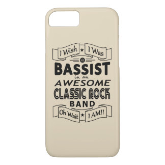 BASSIST awesome classic rock band (blk) iPhone 8/7 Case