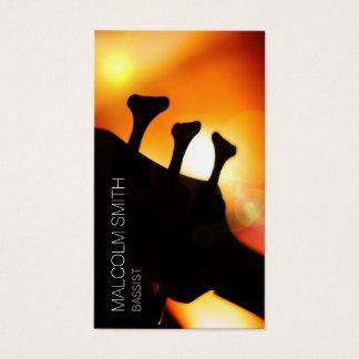 Bassist Bass Headstock Light Flare Musician Business Card