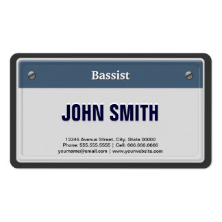 Bassist Cool Car License Plate Pack Of Standard Business Cards