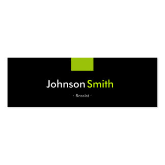 Bassist - Mint Green Compact Double-Sided Mini Business Cards (Pack Of 20)