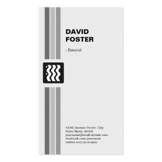 Bassist - Modern Black White Pack Of Standard Business Cards