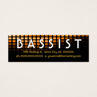 BASSIST orange meters Mini Business Card