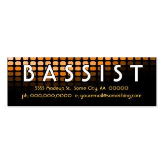 BASSIST orange meters Pack Of Skinny Business Cards