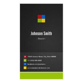 Bassist - Premium Creative Colorful Pack Of Standard Business Cards