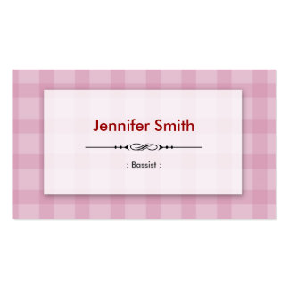 Bassist - Pretty Pink Squares Pack Of Standard Business Cards