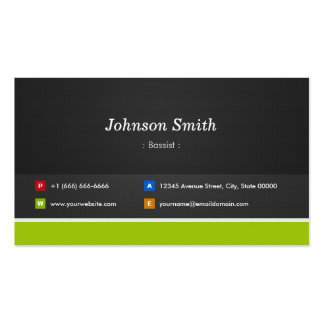 Bassist - Professional and Premium Pack Of Standard Business Cards