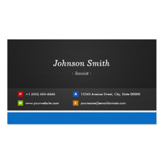 Bassist - Professional Customizable Pack Of Standard Business Cards
