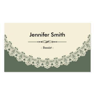 Bassist - Retro Chic Lace Pack Of Standard Business Cards