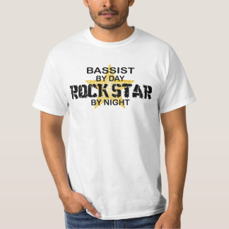 Bassist Rock Star by Night T-shirt