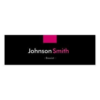 Bassist - Rose Pink Compact Double-Sided Mini Business Cards (Pack Of 20)