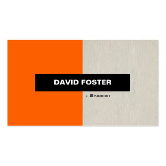 Bassist - Simple Elegant Stylish Pack Of Standard Business Cards
