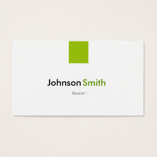 Bassist - Simple Mint Green Business Card