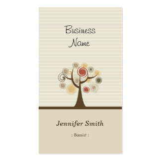 Bassist - Stylish Natural Theme Pack Of Standard Business Cards