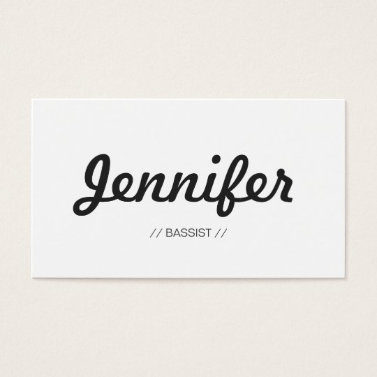 Bassist - Stylish Simple Concise Business Card