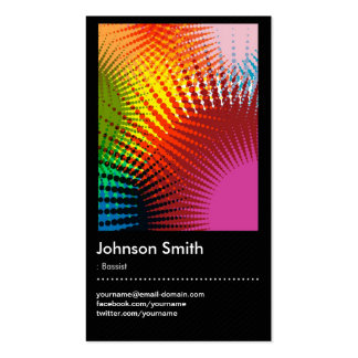 Bassist - Trendy Rainbow Colors Pack Of Standard Business Cards