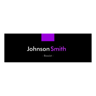 Bassist - Violet Purple Compact Double-Sided Mini Business Cards (Pack Of 20)