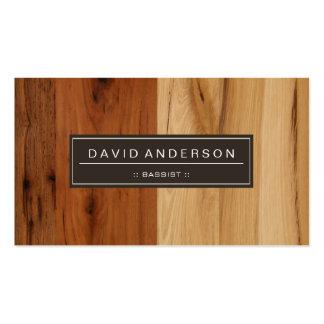 Bassist - Wood Grain Look Pack Of Standard Business Cards