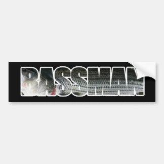 Bassman Bumper Sticker DARK