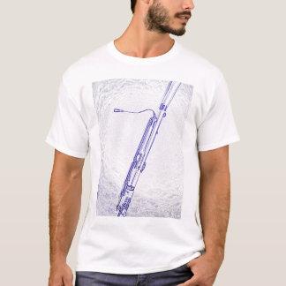 Bassoon Blue Ink Drawing Shirt
