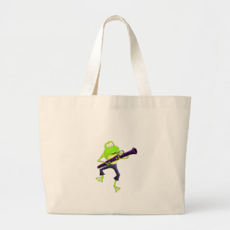 Bassoon Frog Jumbo Tote Bag