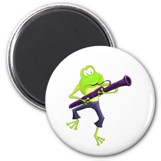 Bassoon Frog Refrigerator Magnets
