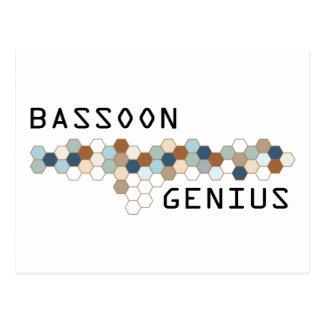 Bassoon Genius Postcard