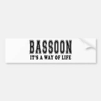 Bassoon It's way of life Bumper Stickers