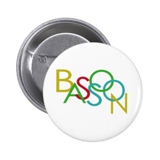 BASSOON Letters 6 Cm Round Badge