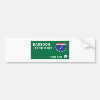 Bassoon Next Exit Bumper Sticker
