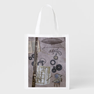 Bassoon or Later Steampunk Carnival Reusable Grocery Bag