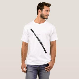 Bassoon Silhouette White T-Shirt