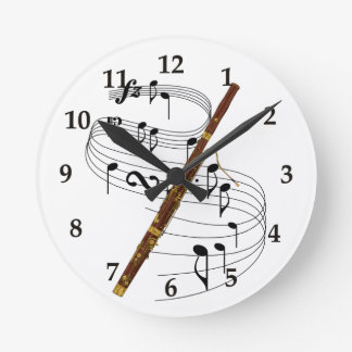 Bassoon Wall Clock