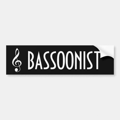 Bassoonist Music Band Bumper Sticker Gift