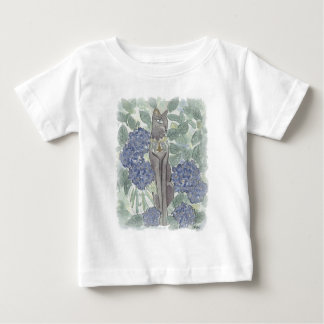 Bast Amidst Hydrangea Flowers Baby T-Shirt