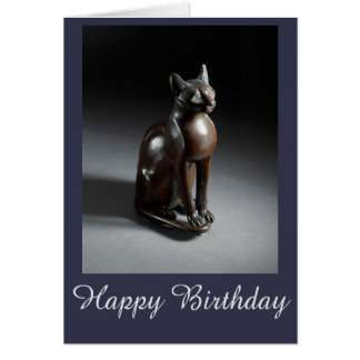 Bast (Egyptian cat goddess) birthday card