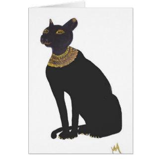 Bast Egyptian Goddess of Love Greeting Card