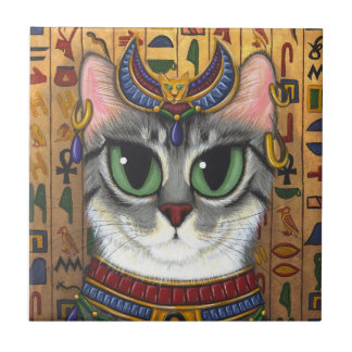 Bast Goddess Cat Egyptian Bastet Art Tile