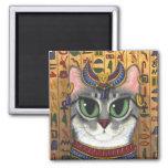 Bast Goddess, Egyptian Bastet Cat Art Magnet