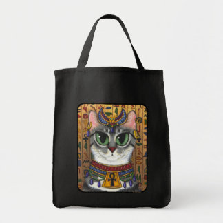 Bast Goddess Egyptian Bastet Cat Art Tote Bag