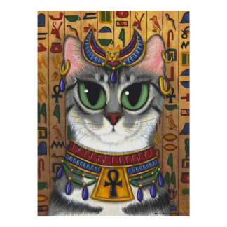 Bast Goddess, Egyptian Bastet Cat Poster