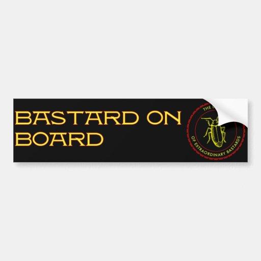 bastard on board bumper sticker