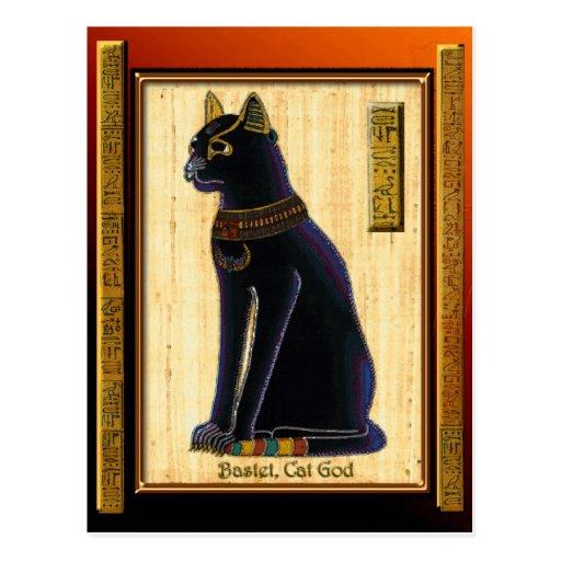 BASTET ~ Egyptian Cat God Historic Art Postcards
