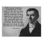 Bastiat Finer Clay Quote Poster